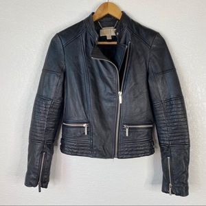 Michael Michael Kors Lamb Leather Moto Jacket